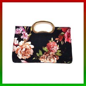 Handbags - Floral Clutch Handbag